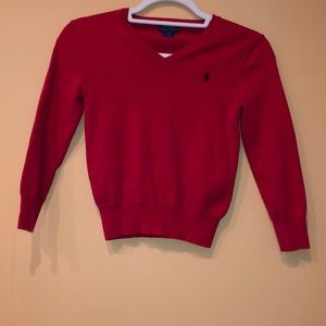 Polo red boys sweater size 7